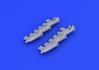 Spitfire Mk.V exhaust stacks fishtail 1/48 - 3/4