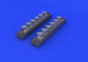 Bf 109G exhaust stacks 1/48 - 3/6