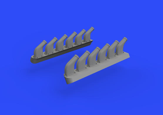 P-51D exhaust stacks 1/48  - 3