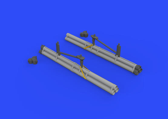 P-51D bazooka rocket launchers 1/48  - 3