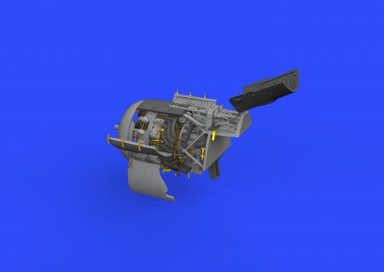 Fw 190A-4 двигатель и фюзеляжные пулемёты 1/48  - 3