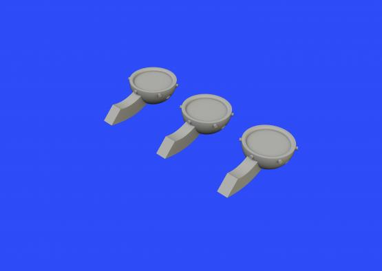 P-51D rear view mirrors 1/48  - 3