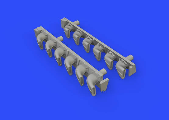 Bf 109G-6 exhaust stacks 1/48  - 3