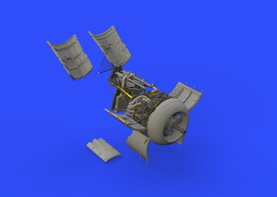 Fw 190A-5 двигатель и фюзеляжное вооружение 1/48  - 3