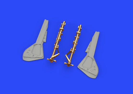 Fw 190A-8 undercarriage legs BRONZE 1/48  - 3