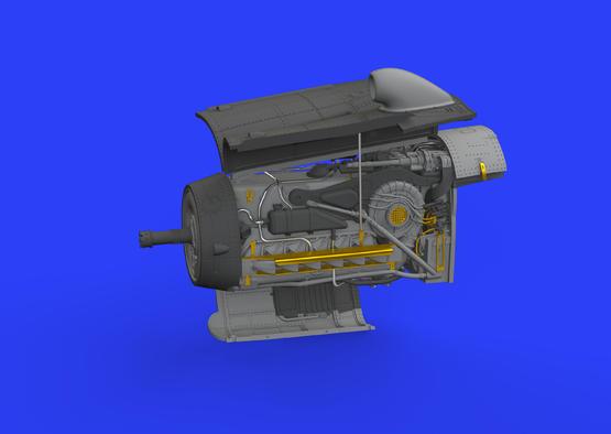 Bf 109G-10 エンジン 1/48  - 3