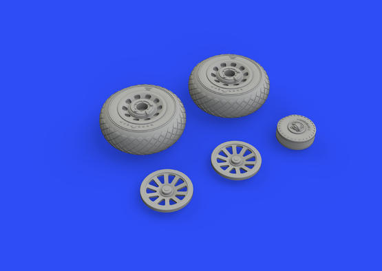 P-51D wheels diamond tread 1/48  - 3