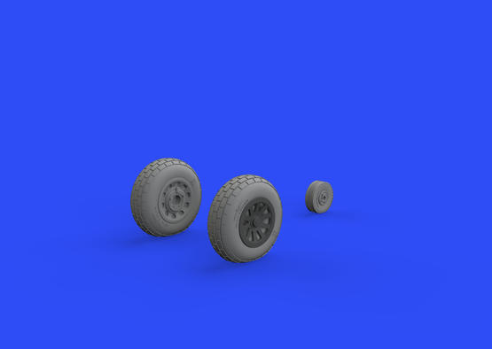 P-51D wheels block tread 1/48  - 3