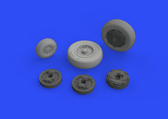 Mirage IIIC wheels 1/48  - 3
