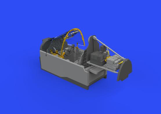 P-38G кабина 1/48  - 3