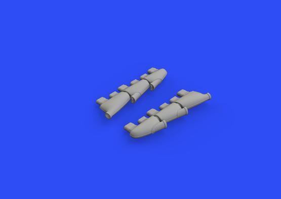 Spitfire Mk.I exhaust stacks 1/48  - 3