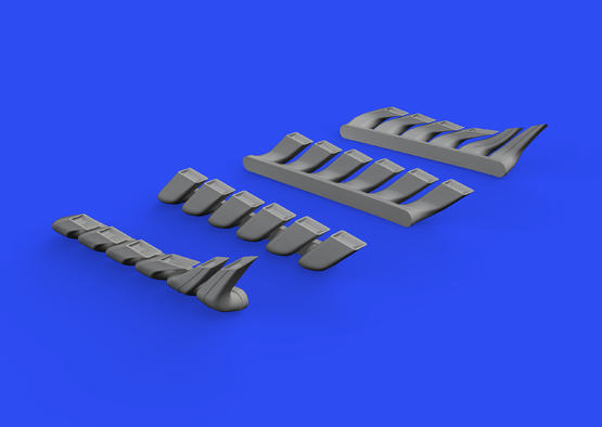 Bf 110C/D/E exhaust stacks 1/48  - 3