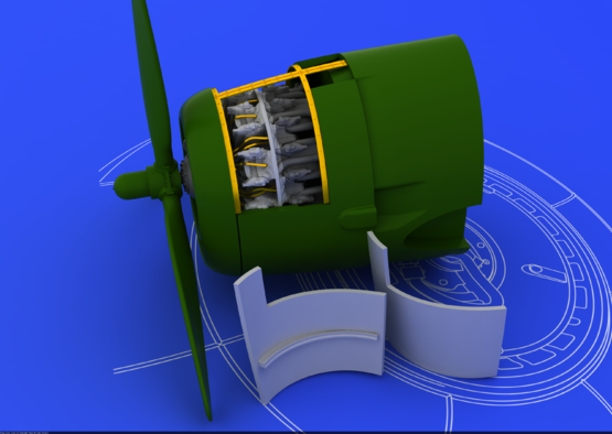 R-2800-10 エンジン 1/72  - 3