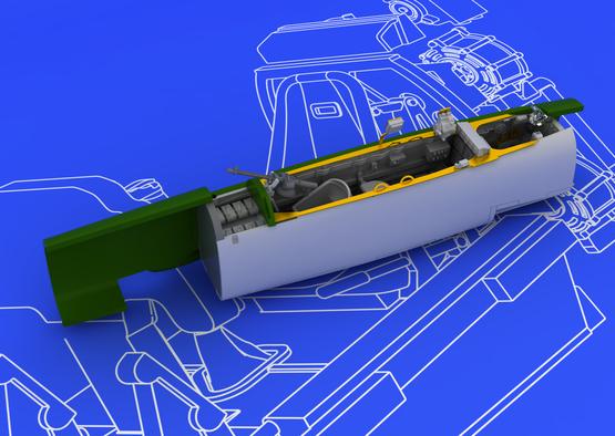 Bf 110E コクピット 1/72  - 3