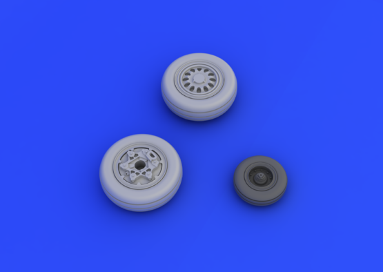 F-16CJ Block 50 wheels 1/72  - 3