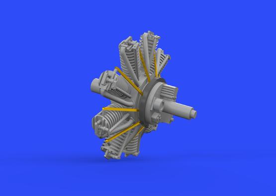 フォッカー Dr.I エンジン 1/72  - 3