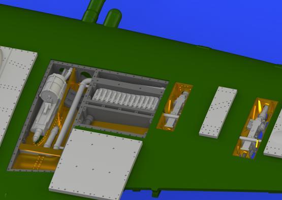 Spitfire Mk.IXc gun bays 1/72  - 3