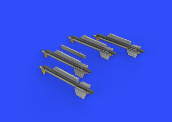 R-13M missiles w/ pylons for MiG-21 1/72  - 3