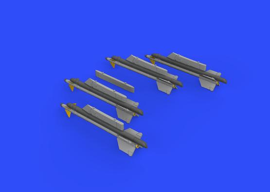R-13M rakety s pylony pro MiG-21 1/72  - 3