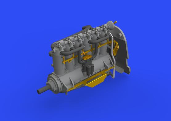Fokker D.VII (OAW) engine/Mercedes D.III 1/72  - 3