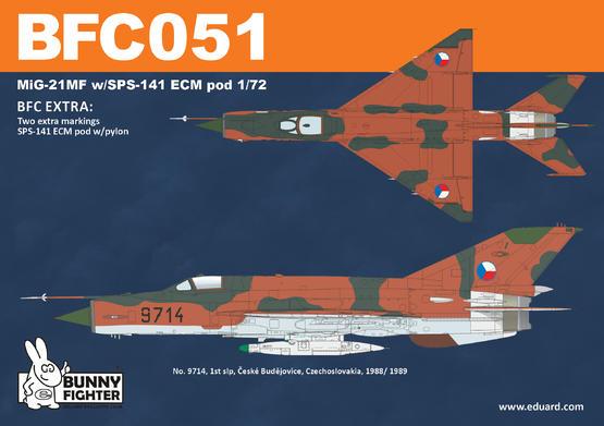 MiG-21MF w/SPS-141 ECM pod 1/72  - 3