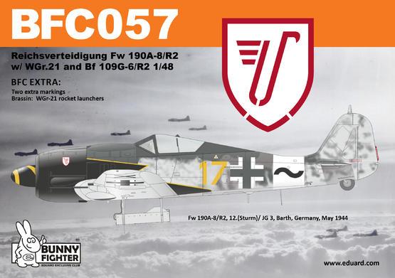 Reichsverteidigung Fw 190A-8/R2 & Bf 109G-6 1/48 kit 1/48  - 3