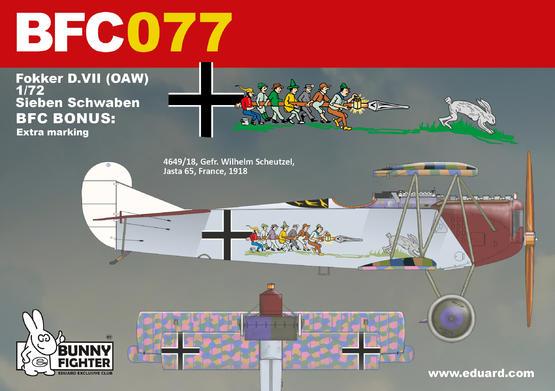 Fokker D.VII (OAW) Sieben Schwaben 1/72  - 3