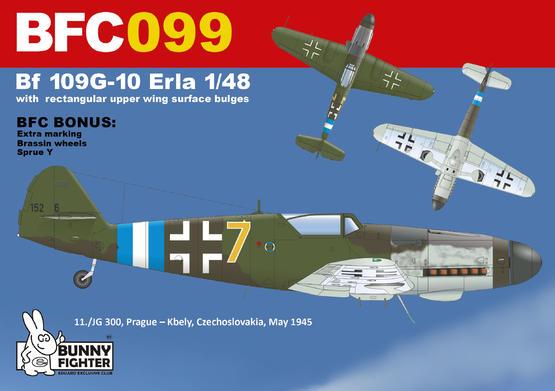 Bf 109G-10 Erla s velkými boulemi na horní ploše křídla 1/48  - 3
