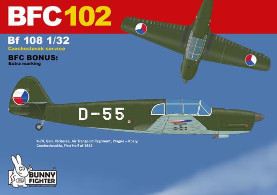 K-70 D-55 Bf 108 in Czechoslovak service 1/32  - 3