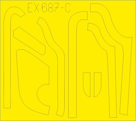 B-17G 防眩パネル(BO & DL生産) 1/48  - 3