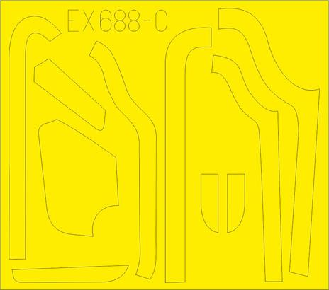 B-17G panely proti oslnění  (výroba VE) 1/48  - 3