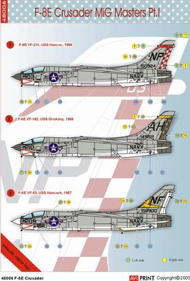 F-8E Crusader MiG Masters 1/48  - 3