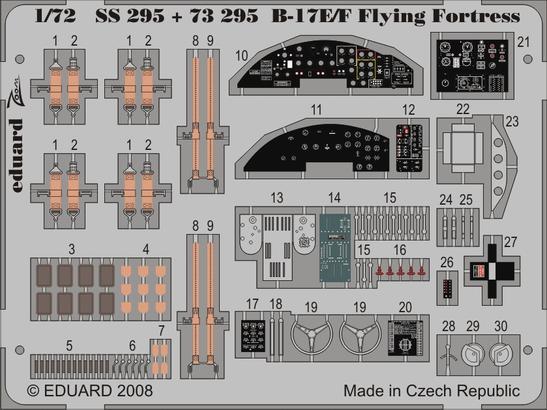 B-17E/F front interior S.A. 1/72  - 3