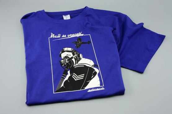 "T-shirt Spitfire pilot ""Nasi se vraceji"" (XXL)  - 3"