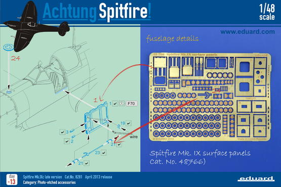 Spitfire Mk.IX surface panels 1/48  - 4