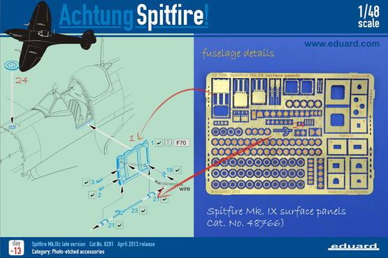 Spitfire Mk.IX povrchové panely 1/48  - 4