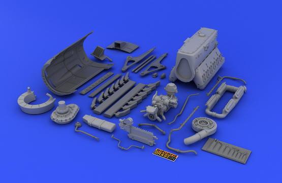 DB 601A/N engine  1/32 1/32  - 4