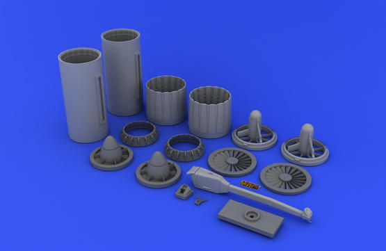 F-4 exhaust nozzles USAF late  1/32 1/32  - 4