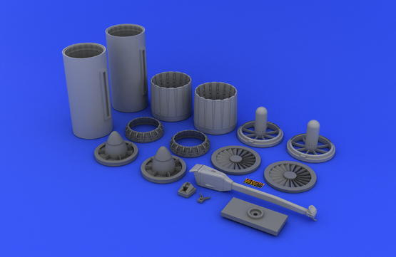 F-4 exhaust nozzles USN late 1/32  - 4