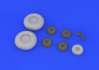 Ju 88 wheels early  1/32 1/32 - 4/6