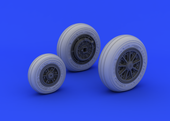 F-104 undercarriage wheels late 1/32  - 4