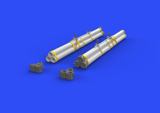 Bazooka rocket launchers for P-40 1/32  - 4