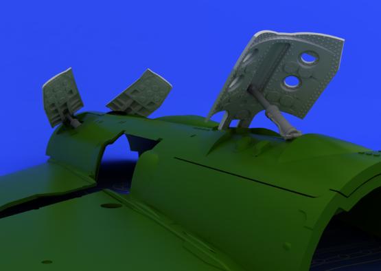 MiG-21 brzdící štíty pozdní verze 1/48  - 4