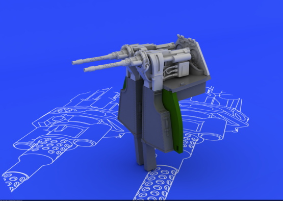 MG 131 mount for Fw 190D-9 1/48  - 4