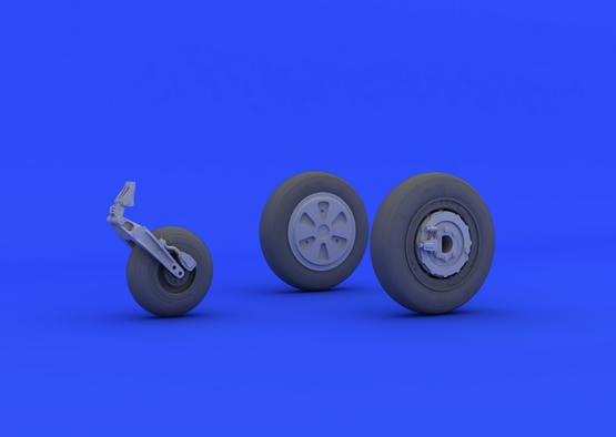 МиГ-21ПФМ колеса 1/48  - 4