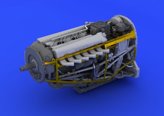 Spitfire Mk.IX двигатель 1/48  - 4