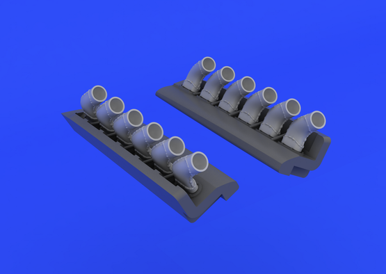 Spitfire - exhaust stacks rounded 1/48  - 4