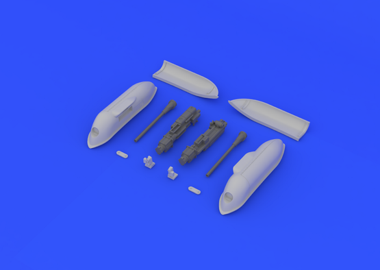 Bf 109G cannon pods  1/48 1/48  - 4