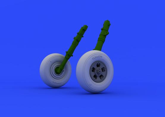 スピットファイア Mk.V  車輪 1/48  - 4