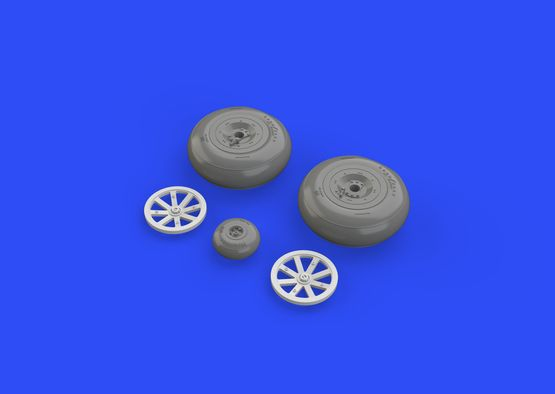 P-40B wheels 1/48  - 4